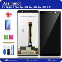 """Pour Nokia 7 Plus / 7 Plus / E9 Plus / TA 1062 6.0 """"Assemblée de convertisseur analogique Numérique Décran tactile Daffichage Daffichage à cristaux liquides de Remplacement LCD + Cadeau"""