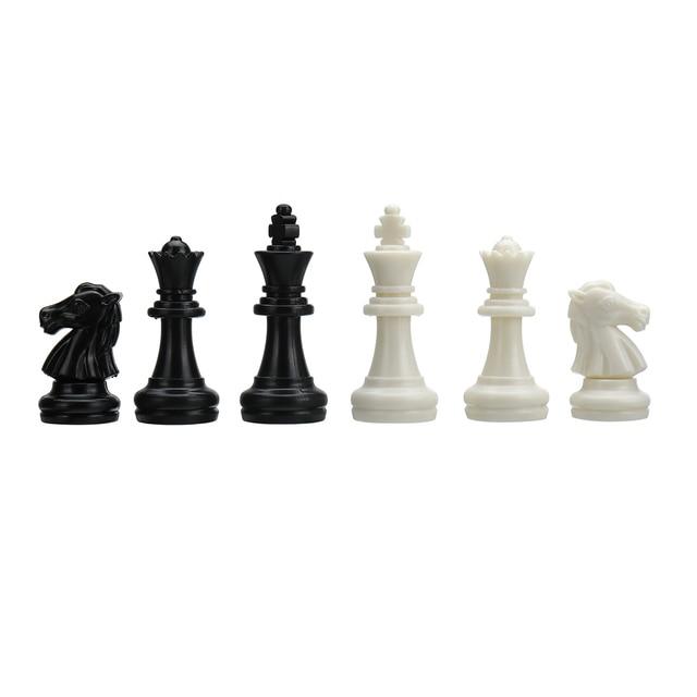 Set de pions d'échec en plastique 32 pièces, sans échiquier 5