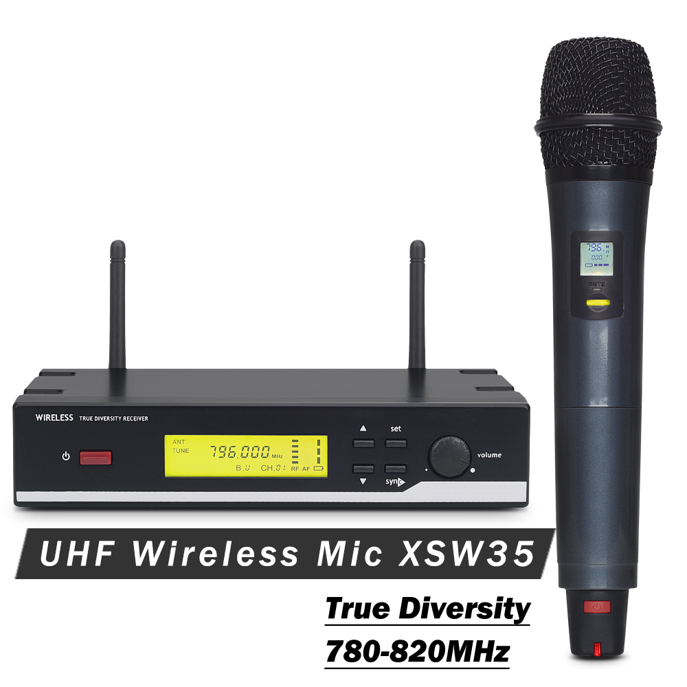 High Quality Professional XSW 35 UHF Wireless Microphone Wireless System With Handheld Transmitter For Stage Singer