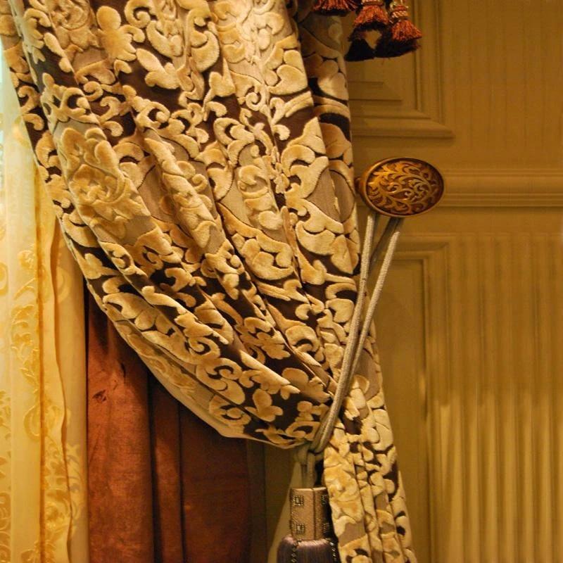 rideaux style or qualite or mode jacquard luxe velours rideau rideaux occultant melange dore aveugle fenetre rideau rideaux pour le salon rideaux