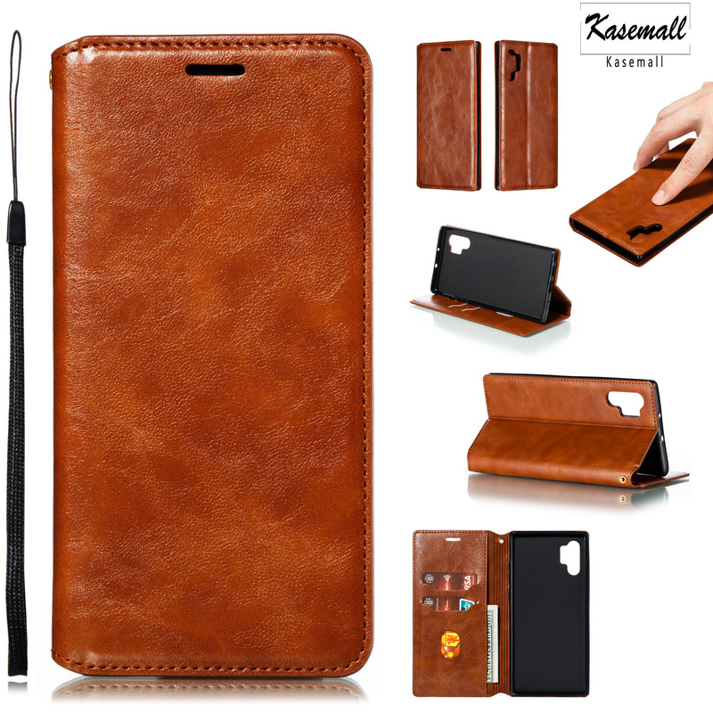Flip Case For Samsung S10 Plus S8 S9 S7 edge Luxury Leather Magnetic Wallet Protect Cover For Note10Pro 8 9 A20 A50 A70 A80 Capa