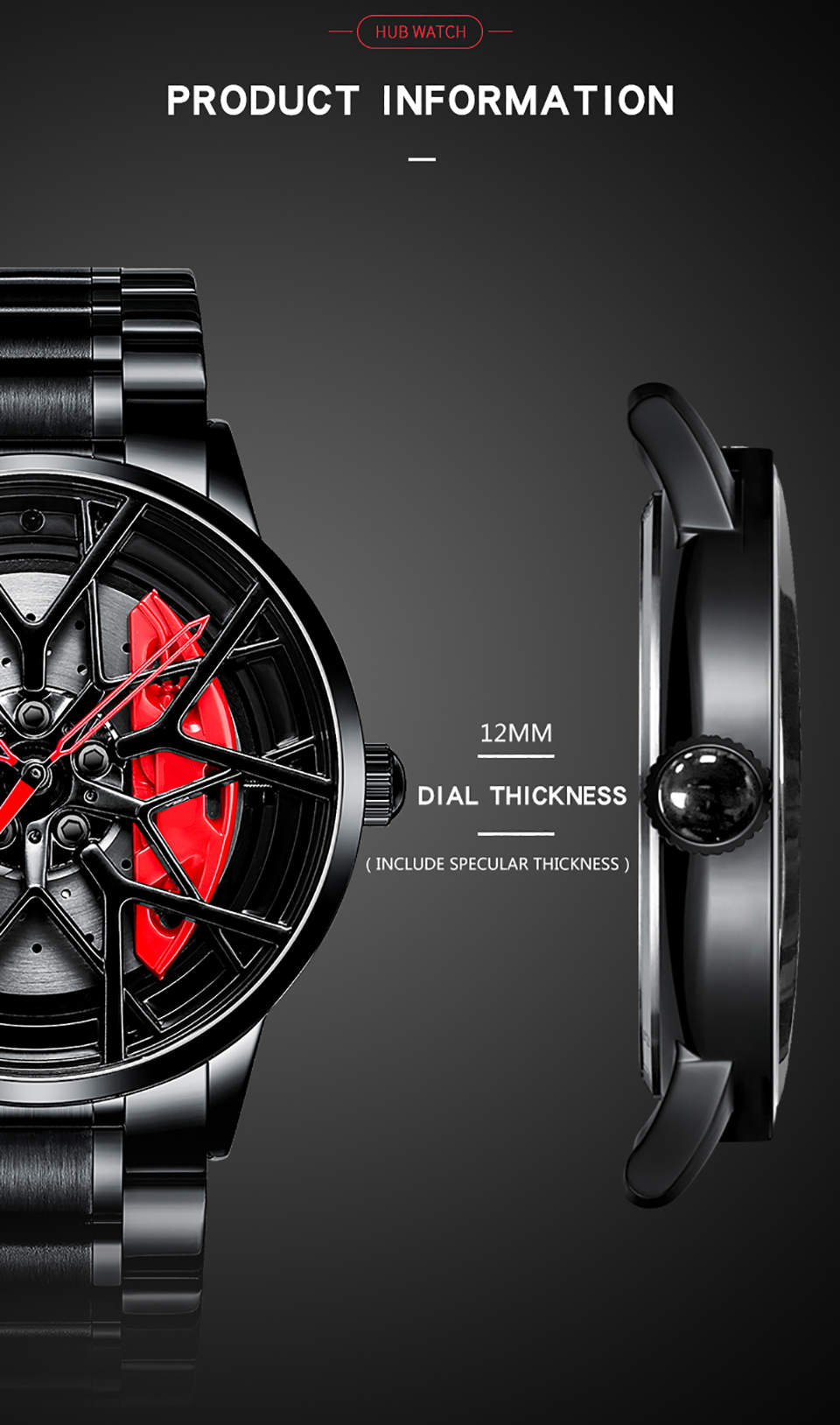 H8e8062fc9ad249ff8dbcbcb6870d0478U NIBOSI 2020 Car Rim Hub Wheel Watch Custom Design