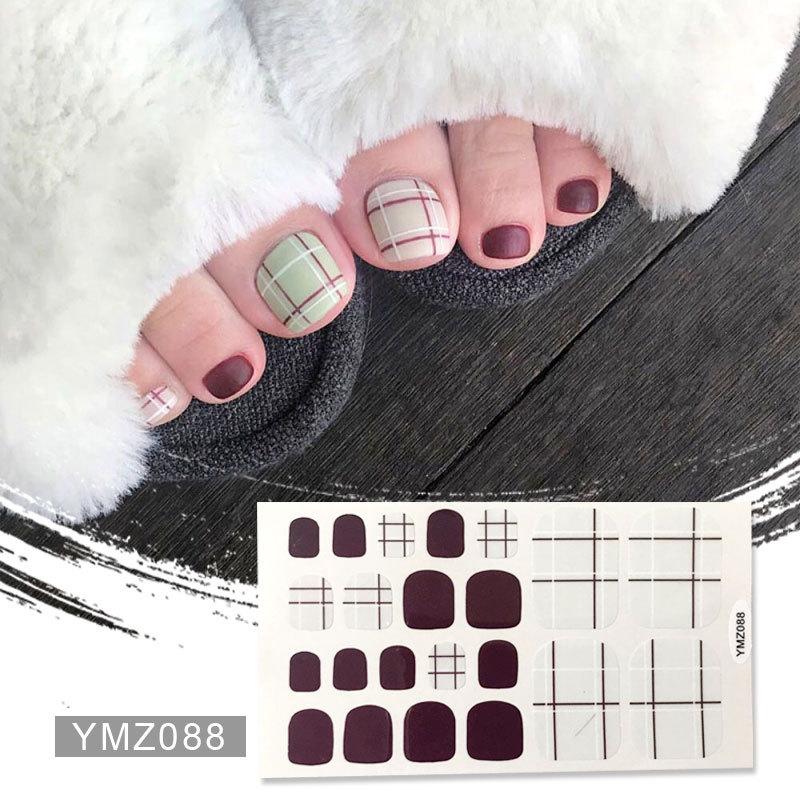 22 tipps/set Full Cover Nail Sticker Wraps Dekoration DIY für Schönheit Nail art Decals Plain Aufkleber Selbst Klebe nagel Aufkleber