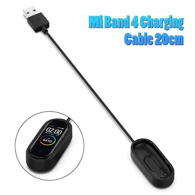 Kabel Pengisian USB Pembongkaran-Gratis Kembali Klip Adaptor Charger untuk Mi Band 3/4 Suhu Kerja Rendah Umur Panjang