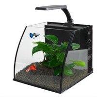 Mini home Small Living Room Glass Creative Desktop Ecological Aquarium Lazy Fish Aquarium Goldfish Turtle Aquarium Fish Tanks