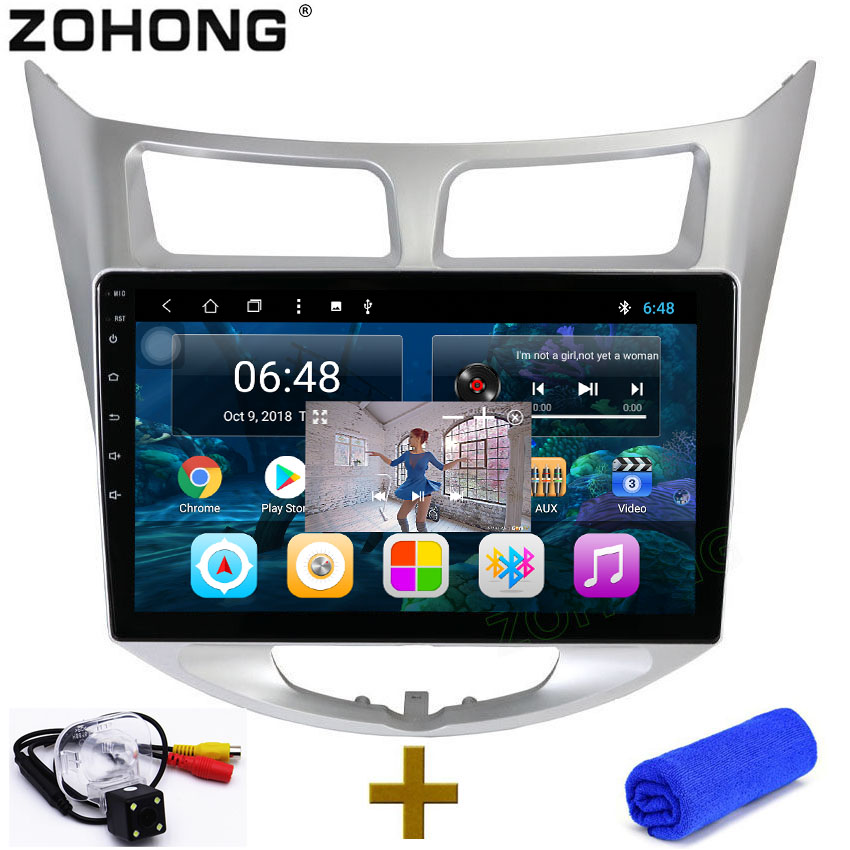 2 5D 10 2 inch Octa Core 2G 32Gb Android Car DVD player For Hyundai Solaris