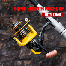 All Metal Fishing Reel HD1000-7000 Spinning Fishing Wheel 5.2:1 Gear Ratio Super Smooth Wire Cup Spinning reel k8356 fishing spinning reel 5 5 1 gear ratio wheel all metal wire cup fishing equipment spool capacity 1000 7000 plastic seat