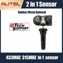 Autel MX الاستشعار TPMS الوسادة 315MHz 433MHz العالمي ضغط الإطارات مبرمج عالية الدقة صمام الهواء TPMS التشخيص مستشعر تساوي ضغط الإطارات