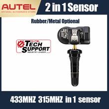 Autel mxセンサーtpmsパッド315mhz 433 433mhzのユニバーサルタイヤ圧力プログラマ高精度エアバルブtpms診断tpmsセンサー