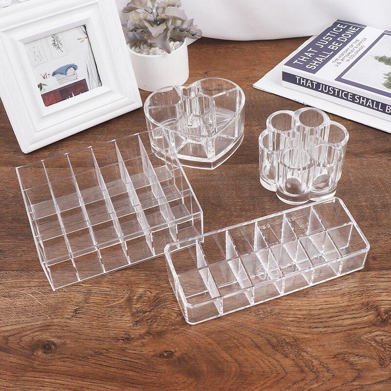 12/24 Slots Acrylic Makeup Organizer Storage Box Cosmetic Box Lipstick Jewelry Box Holder Jewelry Display Organizer