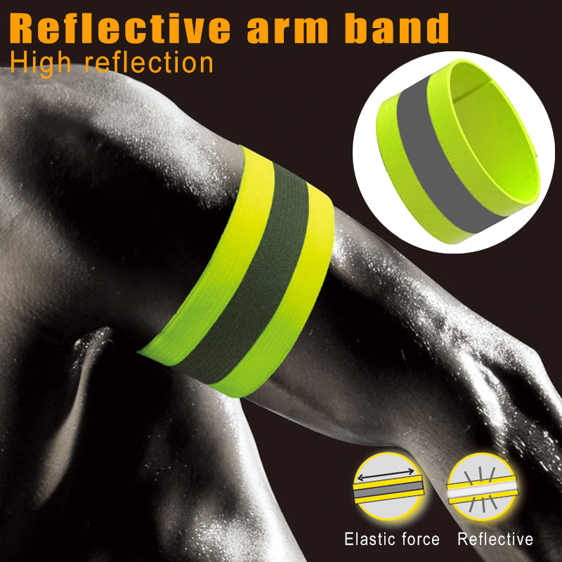 Newly Reflective Arm Band Belt Strap Safe For Outdoor Sports Night Running Cycling DO99