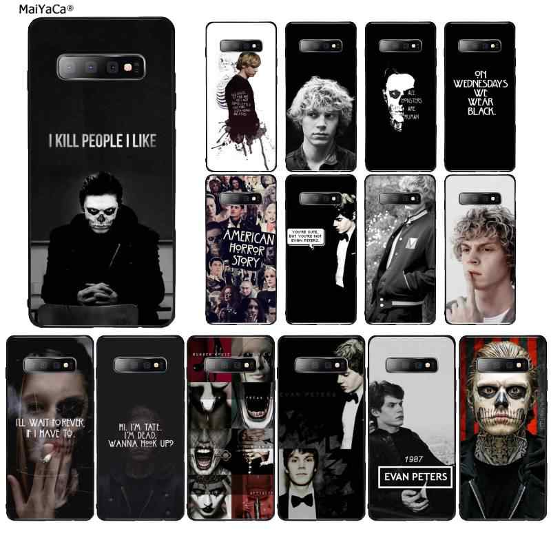 MaiYaCa Evan Peters DIY Luxury High-end phone Case for Samsung S9 plus S5 S6 edge plus S7 edge S8 plus S10 E S10 plus