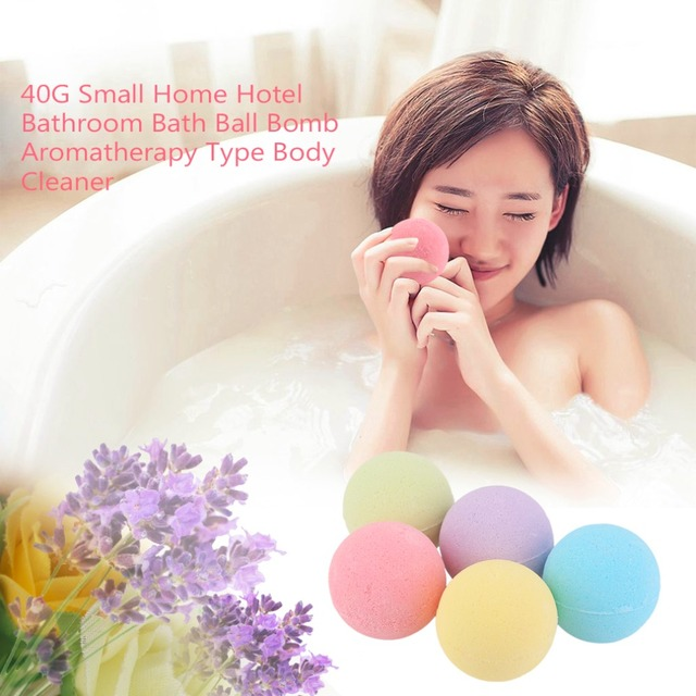 Small Size Home Hotel Bathroom Bath Ball Bomb Aromatherapy Type Body Cleaner Handmade Bath Salt Gift 40G Diameter: 4cm 1