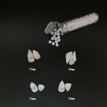 1 paia di Denti del Vampiro Zanne Protesi Puntelli Puntelli Costume di Halloween Denti Falsi Solido Colla Adesiva Per Protesi Party Decorazioni FAI DA TE 1