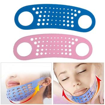 19.6*5.8cm Soft Face Slim Mask Massage Chin Cheek Lift Strap Slimming V Wrinkle Mask Silicon Face Band Belt Thin Shape Mask E0S2