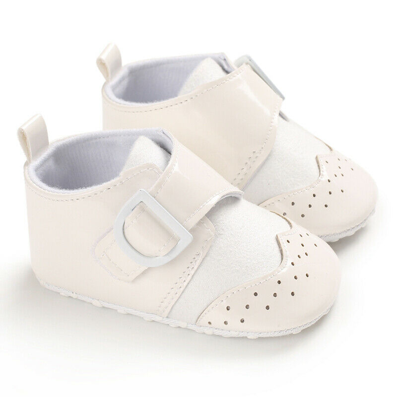 British Newborn Baby Shoes Fashion Girls Boys PU Leather Shoes Spanish Kids Wedding Party Patent Shoes Baby First Walkers 0-18M