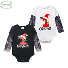 Boy Clothes Cotton rompers Tattoo Long Sleeve Jumpsuit Novelty Infant Tattoo Sleeve Christmas Baby Girl Kids Clothes DLY530(China)