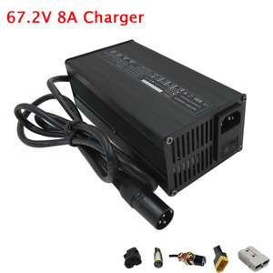 600W 110V / 220V Output 67.2V 8A Charger 60V 8A Li-ion Electric Bicycle charger for 16S 60 V lithium battery Fast shipping