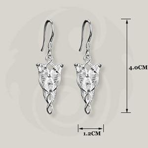 Женские серьги кольца LOTR LordOf TheRings Arwen Evenstar, из стерлингового серебра 925 пробы, ювелирные изделия для девочек, подарки Серьги-подвески      АлиЭкспресс