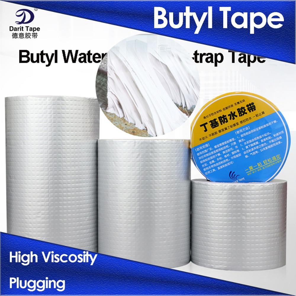 Butyl Tape Aluminum Foil  Rubber Tape Fix Adhesive Waterproof Stop Leak Seal Repair Tape Crack Thicken Tape Home Renovation Tool