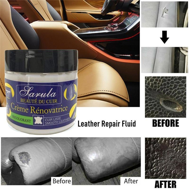 Leather Repair Filler Cream Kit Restore Car Seat Sofa Scratch Rips Scuffs Holes
