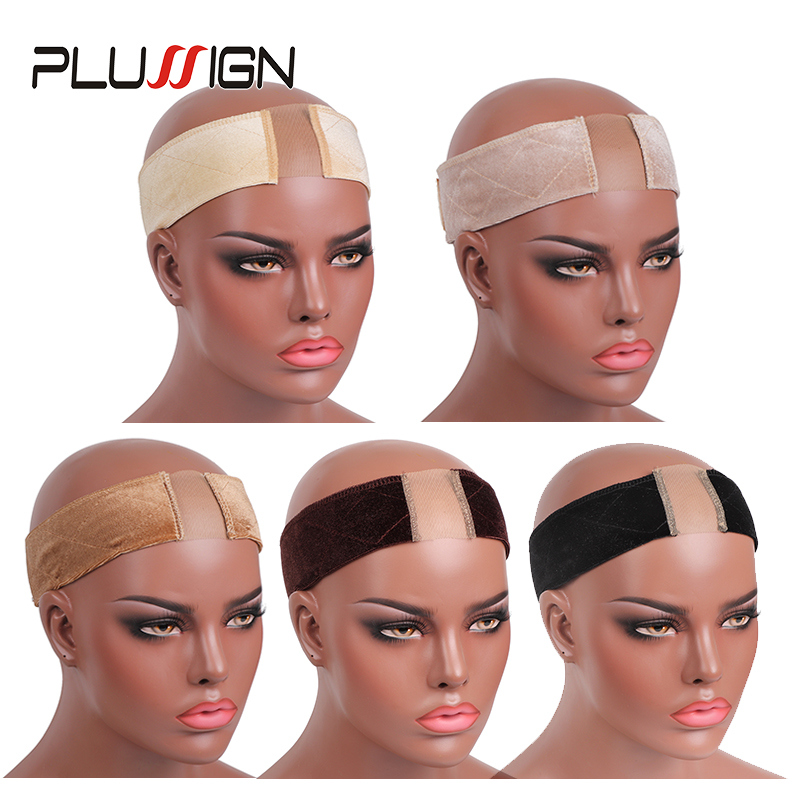 Black Beige Skin Color Wig Headband With Lace New Wig Accessories Wig Grip For Fastener Wigs Install Tools Hair Scarf Grip