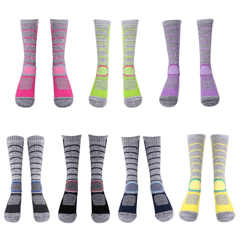 Mens Womens Kış Sıcak Spor Yürüyüş Trekking Dağcılık Termal Kar Kayak Uzun Çizme Çorap 5-9 spor çorapları