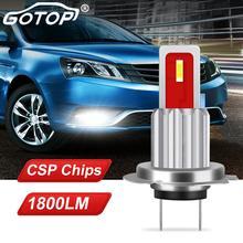 1 個H7 led電球超高輝度cspチップ 1800LMホワイトオートカーフォグランプ運転ライトランプ電球車のフォグドライビングライトランプ電球 12v 6000 18k