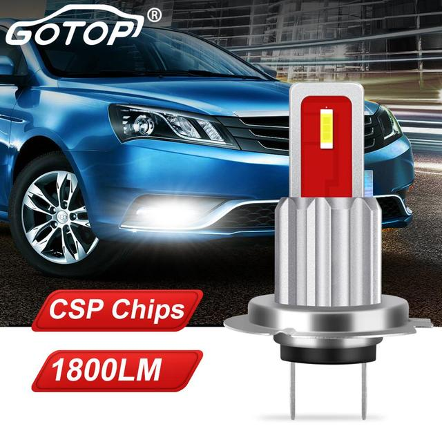 1 adet H7 Led ampul süper parlak CSP cips 1800LM otomatik araba sis sürüş işık lamba ampulü araba sis sürüş işık lamba ampulü 12V 6000K