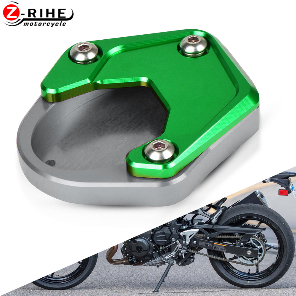 for kawasaki versys650 Versys 650 KLX250 Klx 250 <font><b>Ninja</b></font> <font><b>400</b></font> Z400 Motorcycle <font><b>Kickstand</b></font> Plate Extension Pad Side Stand Enlarger image