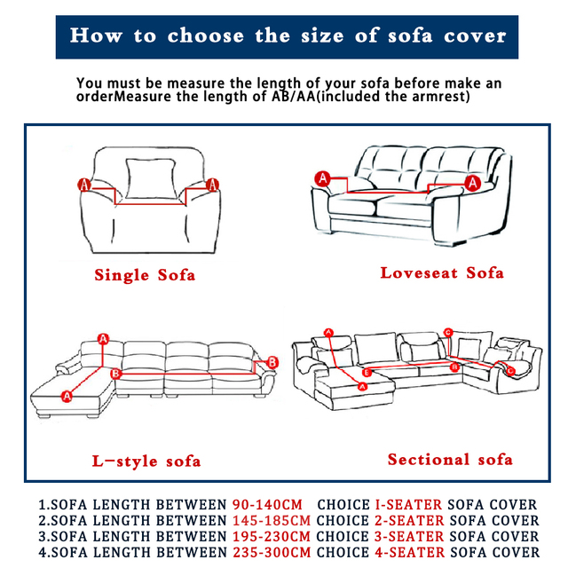 Solid Plain Patterned Sofa Cover 2