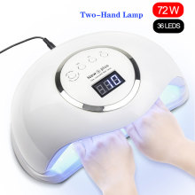 72W NEW5 PLUS UV LED Lamp Nail Dryer Sun Light Timer 10/30/60s Large Space Two-hand Lamp Professional Manicure Tools