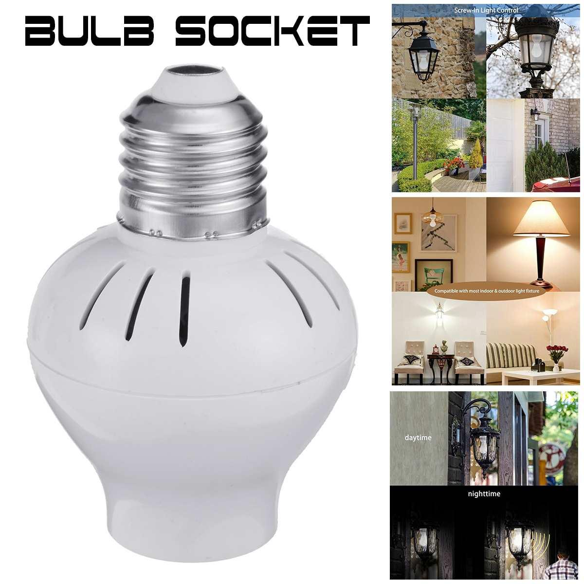 150W Universal E27 Auto Sensor Dusk To Dawn Photocell Light Control Screw In Night Light Bulb Socket 110V-240V