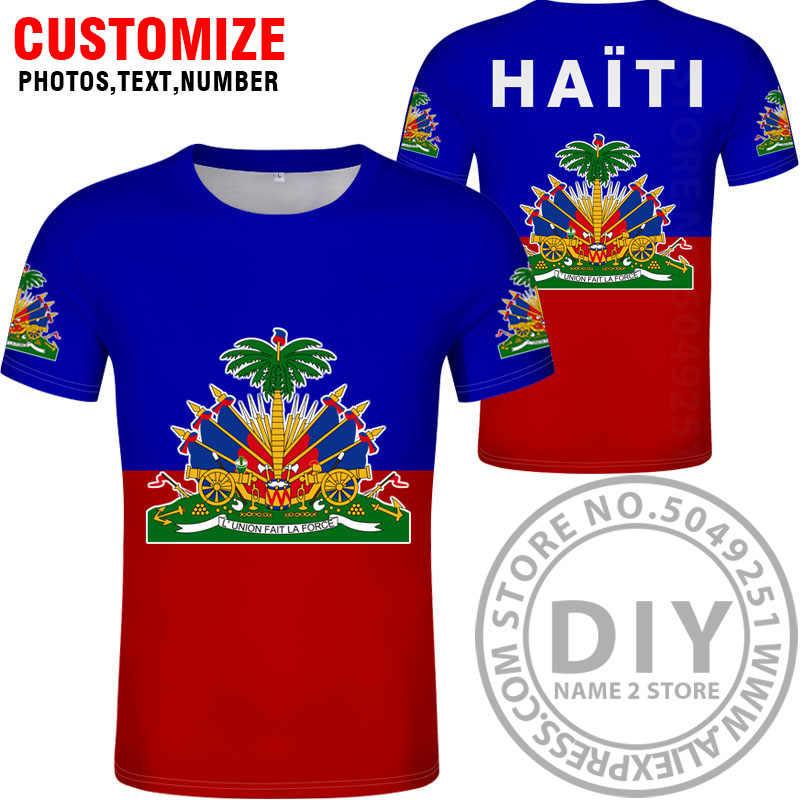 Футболка с надписью «HAITI», «сделай сам», «Бесплатная доставка», «hti», футболка с национальным флагом, одежда для фотосъемки в французском стиле, в стиле гаитянской Республики, колледжа