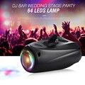 Удивительный Авто/звук активный 64 светодиода RGBW светильник дискотечный светильник вечерние шоу сотни моделей Dj Бар свадебные сцены вечерн...