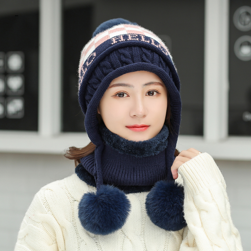 GBCNYIER Ms. Warm Winter Hat Scarf Twinsets Fashion Neck Outdoor Ear Protection Hat Thickening