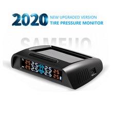 Sameuo – capteur TPMS, système d'alarme de pression des pneus de voiture, verre, énergie solaire sans fil, TPMS avec 4 sens externes pour voitures