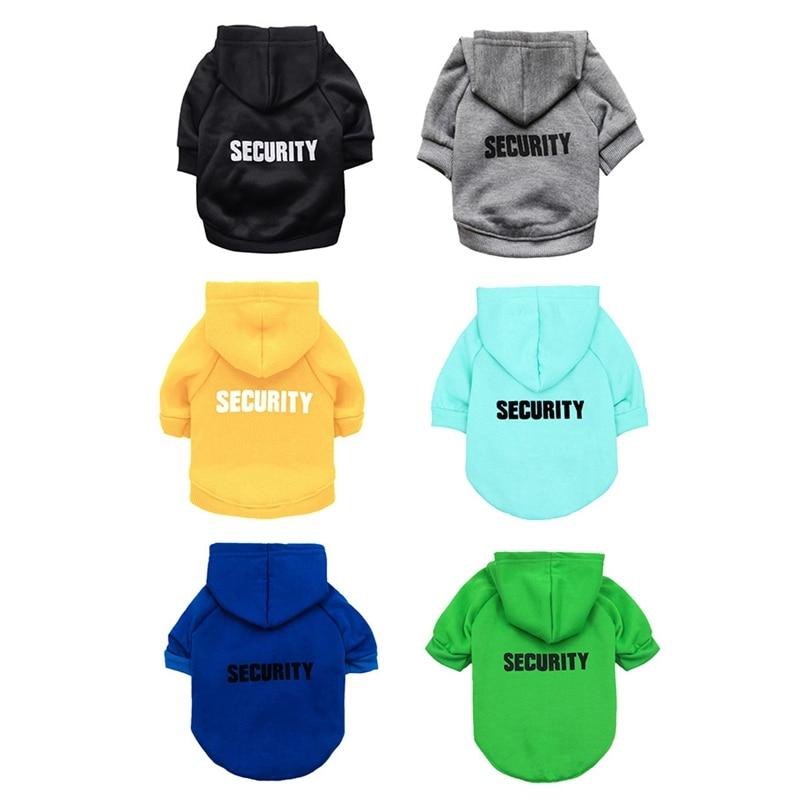 Security Dog Cat Clothes Pet Cat Coats Jacket Hoodies For Cats Dog Outfit Warm Pet Clothing Rabbit Animals Pet Sweatshirt 3