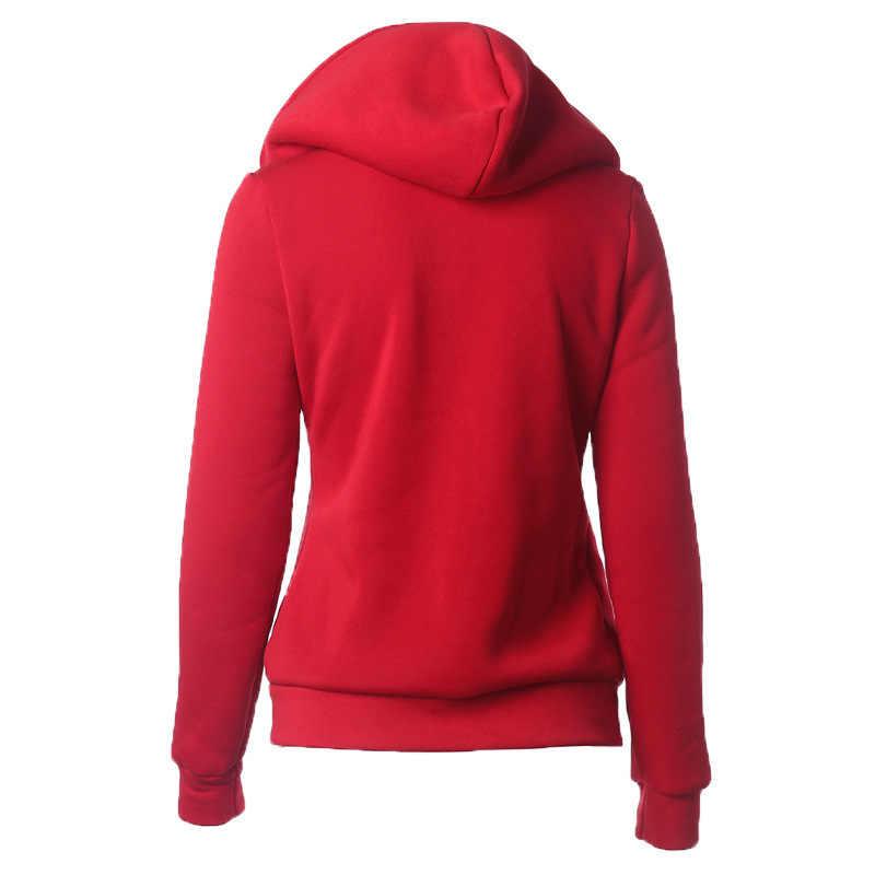 2019 yeni kadın Hoodies tişörtü moda uzun kollu Hoodies ceketler fermuar Hoody Jumper kadın tişörtü Harajuku