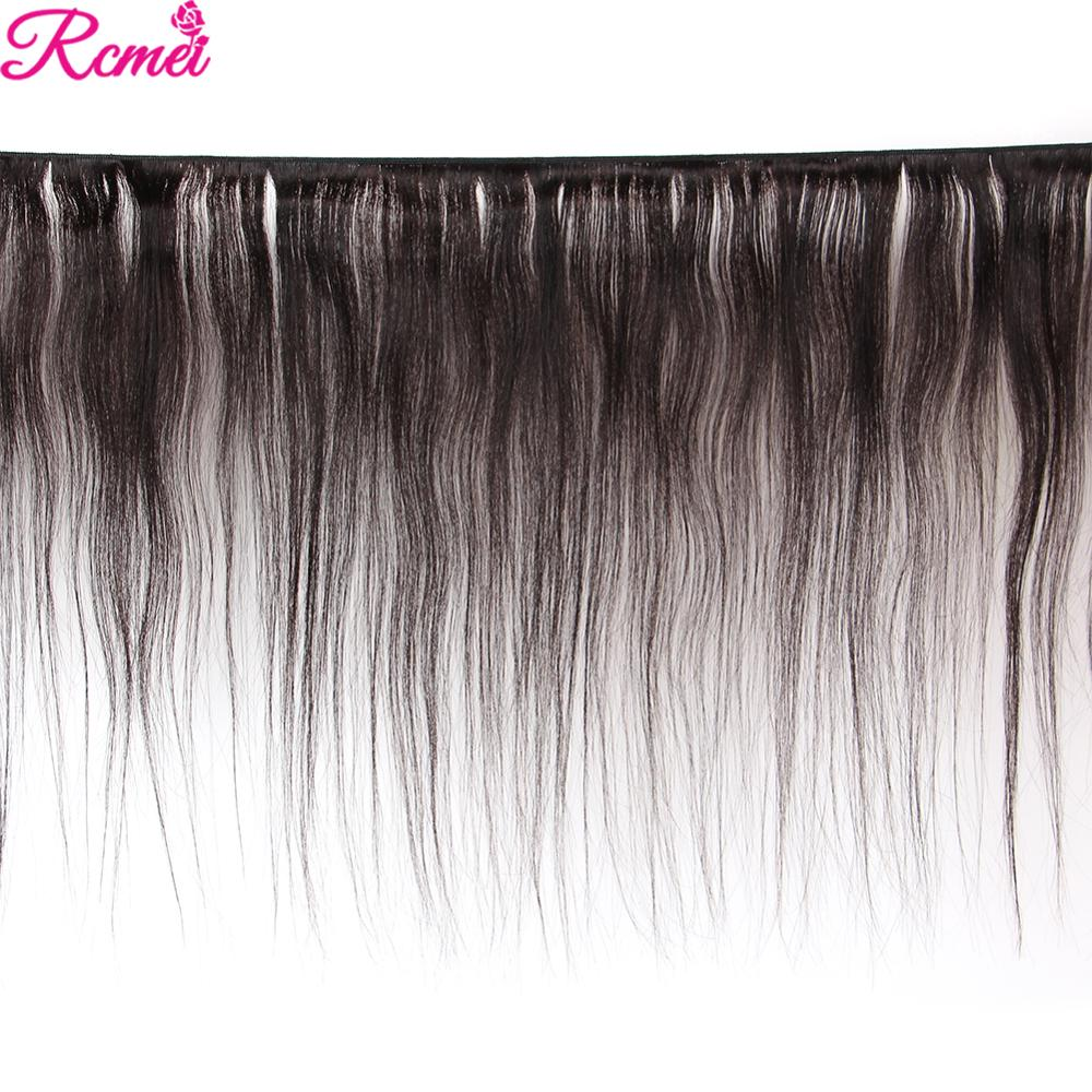 Image 2 - Brazilian Straight Human Hair Weave Bundles with Closure 3 Bundles With Lace Closure 4*4 Remy Human Hair Bundles Extensions-in 3/4 Bundles with Closure from Hair Extensions & Wigs