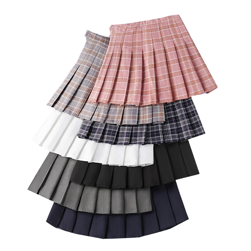 New Summer Women Skirt High Waist Chic Pleated Skirts Mini A-line Sailor Skirts Women Cute Sweet Girls Dance Pleated Short Skirt