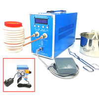 Máquina de aquecimento de indução zvs  aquecedor de indução de alta frequência da versão 220v 1200w 2000w 2800w forno dourado para derreter