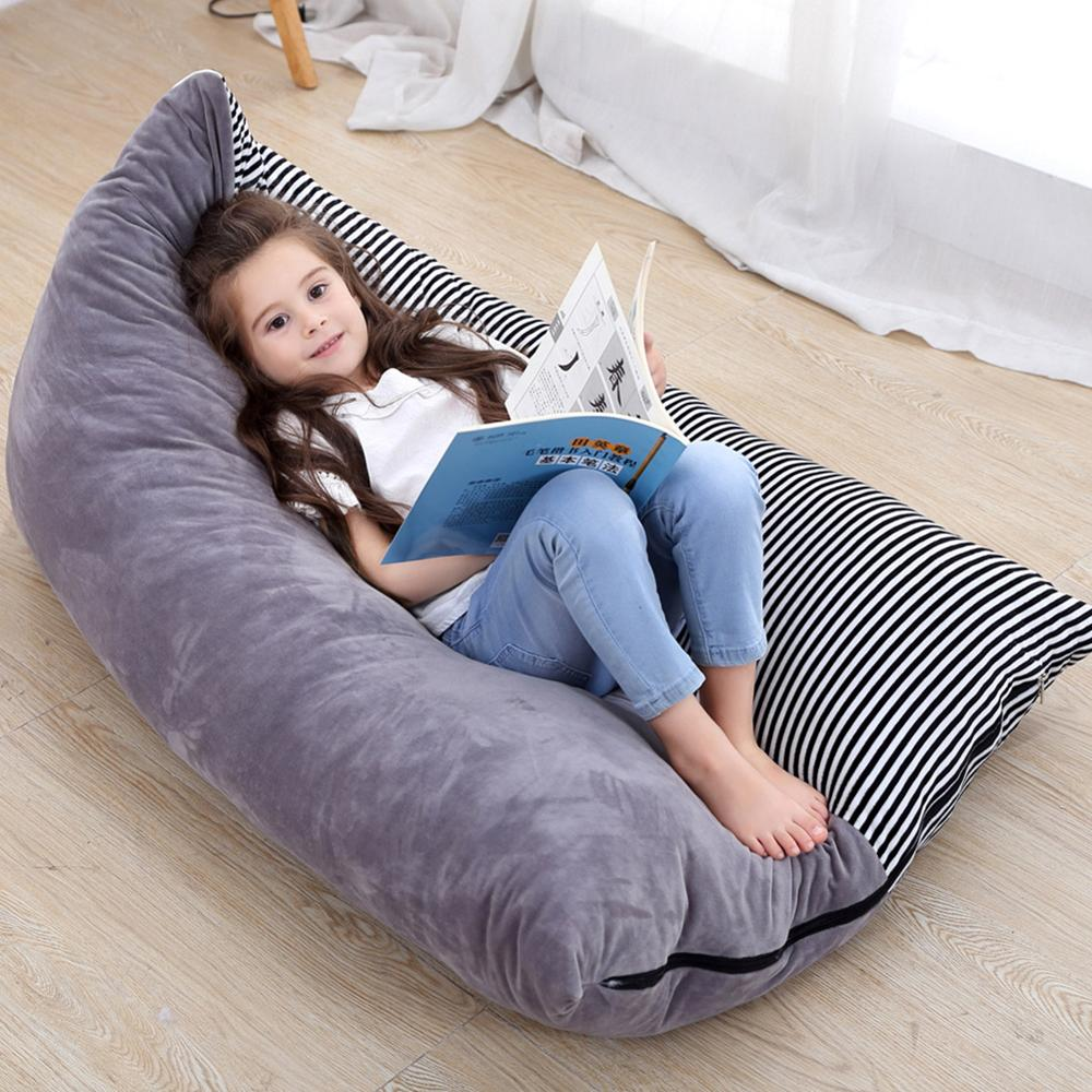 Stuffed Animal Storage Bean Bag Chair Baby Kid Toy Sofa Clothes Organizer For Baby chirden Extra Large Pouch Stripe Chair Sofa in Storage Bags from Home Garden