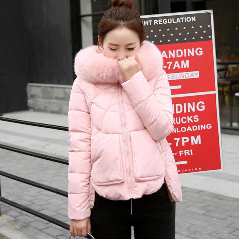 Boyutu artı yeni kış kadın pamuklu ceket kısa kalın Parkas kadın 2020 kapşonlu pamuk yastıklı moda sıcak tutan kaban giyim YXR511