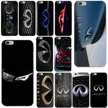 Модный супер автомобильный логотип Infiniti Мягкий Силиконовый ТПУ чехлы для мобильных телефонов iPhone 10 8 7 Plus 6 6S Plus 5 5S SE 5C 4S оболочки сумки