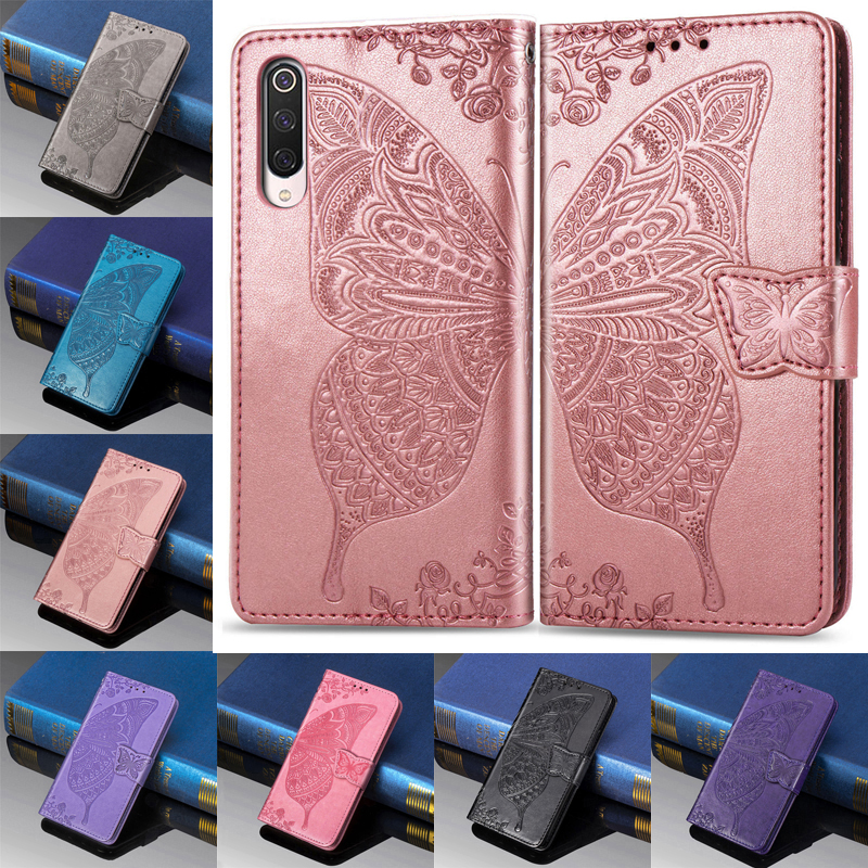 Leather Butterfly Flip Wallet Case For Xiaomi 8 9 SE 9T Pro A2 A3 lite F1 MAX 3 Play Redmi 5 Plus 6 6A 7 7A Note 5 6 7 8 Pro GO