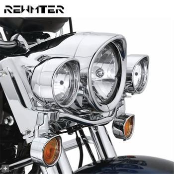 Anillo embellecedor para faro de motocicleta, cubierta de luz antiniebla de 7 pulgadas, anillo de molduras señal de giro estilo Visor para Harley Touring FLH Softail