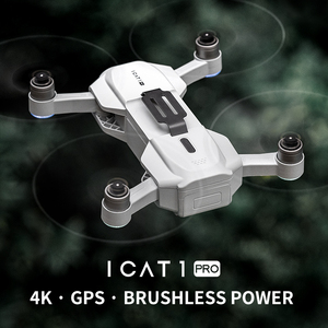 ICAT 1 Pro Mini dron dron 4K GPS profesjonalna zabawka 5G WIFI FPV kamera HD RC bezszczotkowy składany helikopter VS SG906 SG907 L109