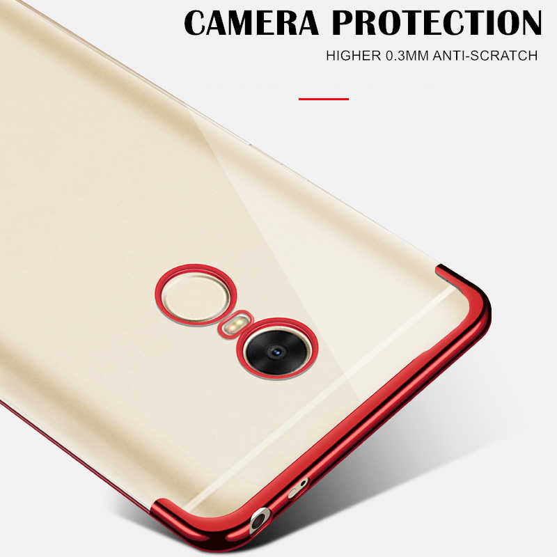 Xiaomi Redmi 용 글로벌 도금 투명 케이스 4X 5 Plus 6A 7A 7 K20 참고 4 5A Prime 6 7 8 Pro 소프트 TPU 보호용 전화 커버
