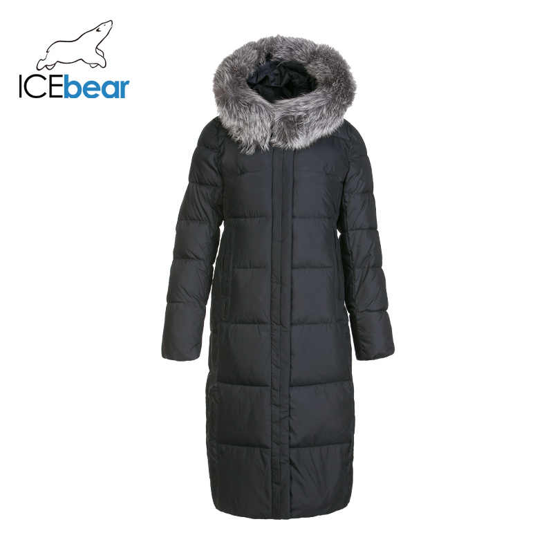 ICEbear 2019 新冬ロング女性のコットンドレスファッション暖かい女性のジャケットフードブランド婦人服 GWD19160I